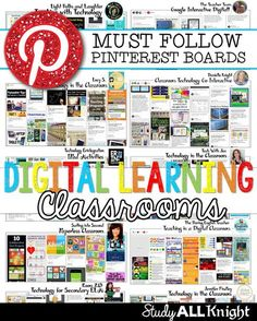 Are you looking for awesome technology Pinterest boards for teachers to follow? Then you'll love this post! You'll get ideas for iPads, tablets, Google classroom, 1:1, apps, organization of technology, classroom management revolving around technology, and