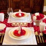 Valentine's Table Setting. #Valentine's Day #DIY #Love