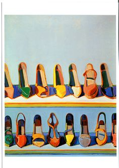 Wayne Thiebaud, Shoe Rows, 1975, oil on canvas, 30 x 24 inches