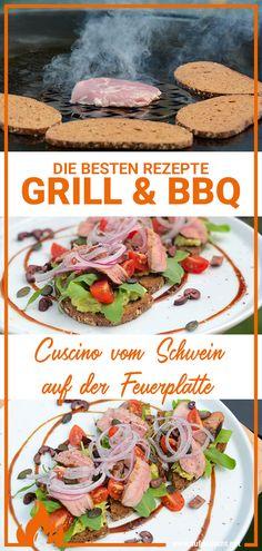 Oh yummy, welch ein leckerer Snack! Wir haben uns gestern ein Cuscino von der Feuerplatte mit leckerer Avocadocreme und knusprigem Brot gegönnt! Egal ob als Vorspeise oder auch als Jause am Abend, ein Stück Cuscino mit paar frischen Zutaten und schon hat man ein tolles Gericht beisammen! Cuscino ist ein besonderer Cut vom Schwein! Leckeres Rezept vom Schwein und dabei so einfach Tacos, Mexican, Ethnic Recipes, Party Ideas, Delicious Snacks, New Recipes, Fete Ideas, Thirty One Party, Ideas Party