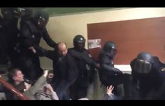 WATCH: Spanish police violently suppress voters in Catalunya referendum #Barcelona #Crime_Law