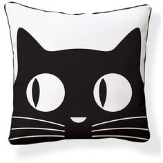 NAKED DECOR Big Eyes Cat Pillow ($33) ❤ liked on Polyvore featuring home, home decor, throw pillows, modern home decor, modern throw pillows, graphic throw pillows, cat throw pillow and modern home accessories