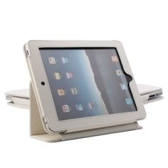 Protective Hard PU Leather Case + Stand for Apple iPad (White)# List Price: US$8.99  Price:        * US$        € £ CA$ AU$ HK$ CHF ¥    4.99    * Protective hard case designed for Apple iPad      * Serves both as the protective case and stand      * Made from premium durable material      * Suitable for both casual and business use      * Excellent finish      * Simple and classic style      Specification:        * Color: White      * Weight Approx: 123g      * Size Approx: 24.6x19x2.2cm