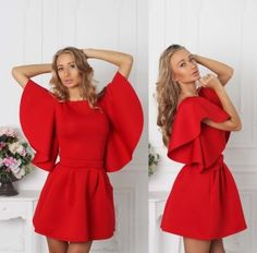 Red Neoprene Dress Charlie <3 Perfect for Valentine's Day
