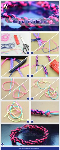 This is another new and novel string bracelets instructions prepared for all string bracelets holics; No matter tyros or dab hands, I will use paracord knots (also named square knots) to make this fab spiral bracelet.