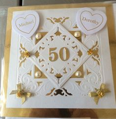 Crafters Companion makes an Anniversary Card to celebrate 50 years of marriage.
