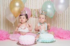 twins smash cake | baby birthday crown | first birthday hat | presh toast crowns etsy