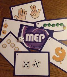Een kaartspel voor groep 1, 2 en 3 met veel mogelijkheden. Op de kaarten verschillende structuren met de aantallen 1 t/m 12. Leerlingen kunnen met verschillende spelvormen getalbeelden oefenen. Scandal Abc, Kindergarten, Math, Games, Calculus, Gaming, Math Resources, Kindergartens, Preschool