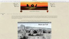 The home page of the new Ancient Stones of Kernow website. www.ancientstonesofkernow.co.uk
