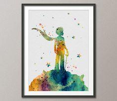 Les illustrations de l'aquarelle inspiration du Petit Prince Le Petit Prince 2 Art impression Giclée mur décor Art Home Decor mural qui N° 228