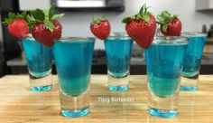 The Blue Balls Shot is a cool blue shooter. This Shot is made up of: Coconut Rum, Blue Curacao, Peach Schnapps, Sweet and Sour, and Sprite. Cocktails, Party Drinks, Cocktail Drinks, Fun Drinks, Cocktail Recipes, Beverages, Drinks Alcohol Recipes, Non Alcoholic Drinks, Drink Recipes