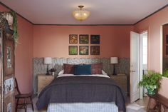 Nickey + Kehoe encore (Desire To Inspire) Nickey Kehoe, Bedroom Color Combination, House Painting Services, Cane Back Chairs, Interior And Exterior, Interior Design, Canapé Design, Mediterranean Style Homes, Brick Flooring