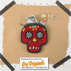 Dia de los Muertos Coin Pouch for Oré Originals | Heather Dutton