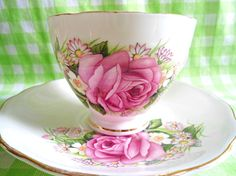 Royal Vale Floral Teacup by RoyalRummage on Etsy, $20.00 Perfect Mother's Day Gift, Herbal Tea, Chutney, Teacup, Pink Roses, Mother Day Gifts, Herbalism, Daisy, Chips