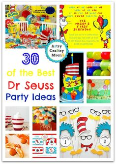 30 Ideas for the Perfect Dr Seuss Party - From Party Invitations, Decors, Treats, Cakes, Free Fonts, Printables, Games & activities. We have you covered.