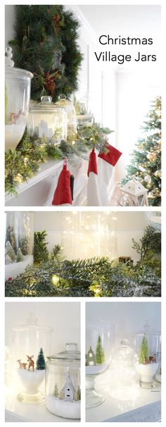 Christmas-Village-Jars-pin.png 700×1,800 pixels
