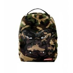 Sprayground Unisex Mini Camo Gorilla Fur Backpack Assorted - of the day discount Fur Backpack, Camouflage Backpack, White Backpack, Mini Backpack, Mini Bag, Camo Bag, Furano, White Camo, Fur Bag