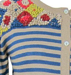 Striped Embroidery vest van Nice Things | Nice Things | Solvejg | kleurrijke mode