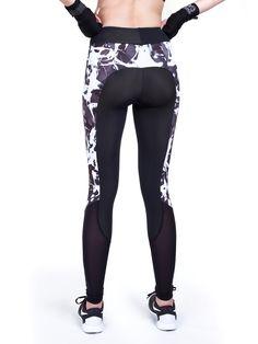 Jalie 3462 - Cora Running Tights Pattern (Fabrics RUB695 + MF 5001 from FunkiFabrics)