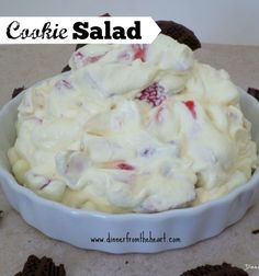 Cookie Salad | Creamy, fruity and delicious - it's a go to salad that you'll make again and again | Dinner from the Heart