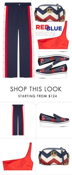 """""""Red, White & Blue"""" by amchavesj-1 ❤ liked on Polyvore featuring Gucci, STELLA McCARTNEY and fourthofjuly"""