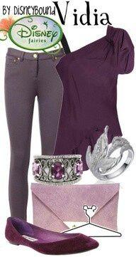 Vidia costume - purple jeans