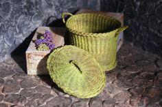 A wicker basket