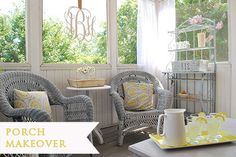 A relaxing screened porch from 11 Magnolia Lane.
