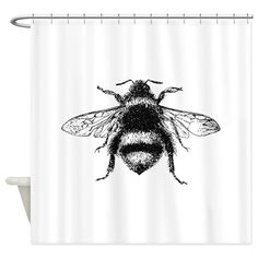Put On Board Vintage Honey Bee Shower Curtain CafePress
