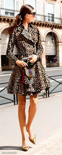 Dior. This is how you wear leopard. #leopardonleopard