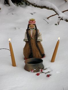 hretha shrine- Hretha is the Anglo-Saxon goddess of March, associated with hardships and shortages of late winter.