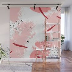 Design your everyday with removable brush strokes wall murals you'll love. Room Wall Painting, Mural Wall Art, Wall Design, Ceiling Design, Canvas Art Projects, Interior Design Awards, Hand Painted Walls, Diy Wallpaper, Wall Drawing