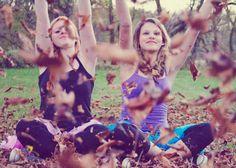 Senior Picture    Fall fun. Leaf throwing.