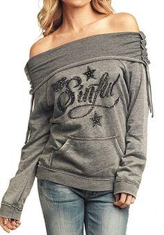 I don't need it to say sinful but I love the style of this hoodie.  Definite want!