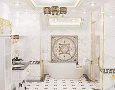 Modern Master Bathroom, Walk In Wardrobe, House Goals, Bathroom Ideas, Versace, Bathtub, Behance, Mansions, Mirror