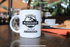 Don't Mess with Mamasaurus You'll Get Jurasskicked - Funny Dinosaur Birthday Mom Gift - Presents For Mom From Husband Son Daughter - 11 oz Coffee Mug Tea Cup White Coffee Mugs Amazon, Funny Coffee Mugs, Coffee Humor, Funny Mugs, Dinosaur Funny, Dinosaur Birthday, Holiday Activities, Reading Activities, Presents For Mom
