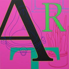 Michael Craig-Martin, Untitled (art/magenta), 2010 on Paddle8