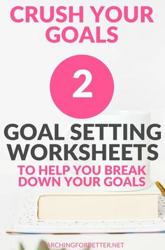 Easy to use #free #goal setting templates for adults or students to help you break down your #goals. These #printables are great tools to help you break your goals down in to bite sized action steps to help you turn your #life and #money situations around! #goalsetting #mind