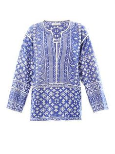 Isabel Marant Étoile Barber embroidered cotton tunic