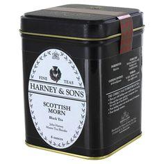 Harney and Sons Tea - Scottish Morn Loose Leaf Tea - Harney And Sons Tea, English Tea Store, Eat Pretty, Tea Brands, Types Of Tea, Breakfast Tea, Tea Packaging, Tea Tins, Loose Leaf Tea