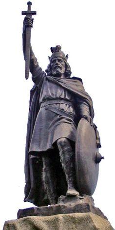 Alfréd Veliký (845? - 899), král jihoanglického Wessexu, je znám pro úspěšný boj proti Vikingům