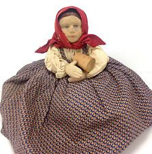 Vintage Stockinette 1930's Tea Cozy Cosy Russia Russian Soviet USSR Girl Doll