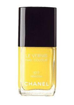 Chanel Mimosa Boundary pushing beauty trends: Yellow nail polish! Temporary face tattoos! And... polka dotted lips?