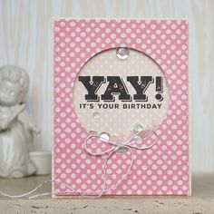 Handmade Birthday Card with Shaker Element