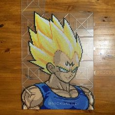 Majin Vegeta DBZ perler beads by nickgalilei