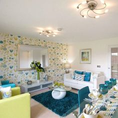 Decorating your home? Pick a colour scheme you love and stick to it. That way, the rooms will really come together and everything will flow effortlessly. Taylor Wimpey, That Way, Decorating Your Home, Color Schemes, New Homes, Vanity, Dining Table, Lounge, Interior Design