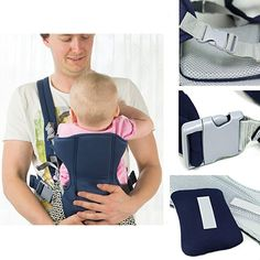2-30 Months Breathable Front Facing Baby Carrier Comfortable Sling Backpack Pouch Wrap Baby Kangaroo Kids Gadgets, Purse Storage, Summer Cap, Baby Must Haves, Cotton Logo, Girl With Hat, Herschel Heritage Backpack, Baby Accessories, Sling Backpack