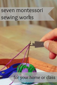 Seven Montessori Sewing Works For Your Home or Class by Aimee Fagan of… Maria Montessori, Montessori Practical Life, Montessori Elementary, Montessori Preschool, Montessori Education, Montessori Materials, Preschool Activities, Elementary Teaching, Indoor Activities