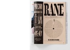 RANE on Behance #magazinedesign #magazinecover #design #typography