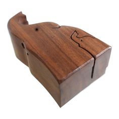 Elephant and baby shaped puzzle box, sheesham wood Shape Puzzles, Puzzle Box, Donate To Charity, Hand Carved, Elephant, Carving, Shapes, Wood, Baby